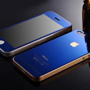 Защитное_духстороннее_стекло_Premium_2в1_для_iphone_4__4s__Синее_